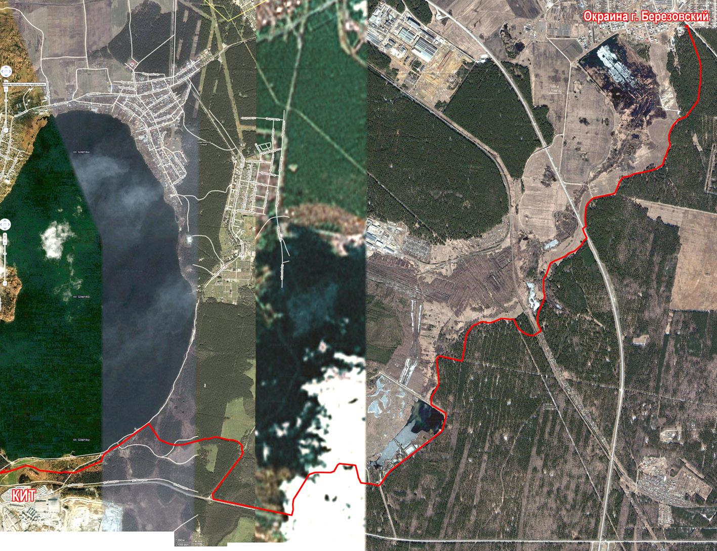 Примерный маршрут пешей экскурсии по Свердловскому Треугольнику *