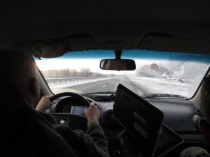 Едем зимней дорогой в Кыштым